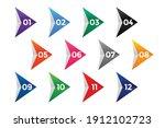 directional number bullet... | Shutterstock .eps vector #1912102723