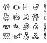 collection of business icons  ... | Shutterstock .eps vector #1912103386