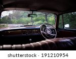 inside the car  classic car | Shutterstock . vector #191210954