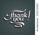 thank you hand drawn lettering | Shutterstock . vector #191211023