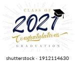 class of 2021 congratulations...   Shutterstock .eps vector #1912114630