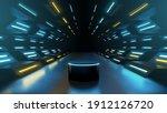 neon futuristic podium or... | Shutterstock .eps vector #1912126720