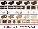 stock vector palette with hair... | Shutterstock .eps vector #1912127773
