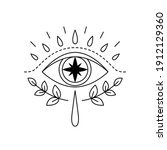 vector illustration of mystic... | Shutterstock .eps vector #1912129360