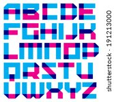 vector geometric font. square... | Shutterstock .eps vector #191213000