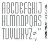 vector font. condensed... | Shutterstock .eps vector #191213006