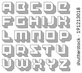 vector geometric font. square... | Shutterstock .eps vector #191213018