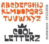 fun vector font. hand made type.... | Shutterstock .eps vector #191213036