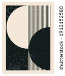 minimal 20s geometric design... | Shutterstock .eps vector #1912152580