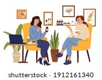 cosmetology. girl consulting in ... | Shutterstock .eps vector #1912161340
