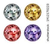 disco ball. mirror reflected... | Shutterstock .eps vector #1912170223