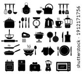 kitchen icon. food cooking... | Shutterstock .eps vector #1912171756