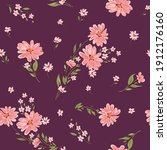 seamless spring floral pattern... | Shutterstock .eps vector #1912176160