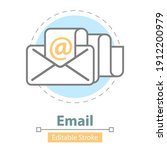email message icon  editable...