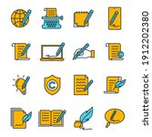 set of copyrighting icons.... | Shutterstock .eps vector #1912202380