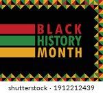 vector of black history month... | Shutterstock .eps vector #1912212439