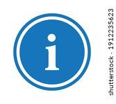 vector blue circle sign  ... | Shutterstock .eps vector #1912235623