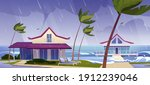 sea storm with rain and tornado ...   Shutterstock .eps vector #1912239046