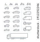big set of transport icons ... | Shutterstock .eps vector #1912252246