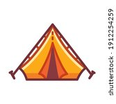 cartoon camping tent icon.... | Shutterstock .eps vector #1912254259
