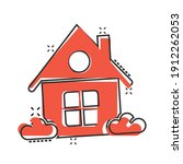 building icon in comic style.... | Shutterstock .eps vector #1912262053