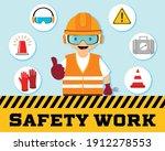 construction worker repairman...   Shutterstock .eps vector #1912278553