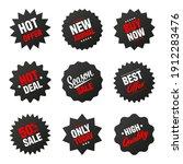 realistic black tilted price... | Shutterstock .eps vector #1912283476