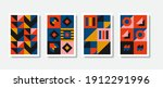 poster graphic geometrical... | Shutterstock .eps vector #1912291996