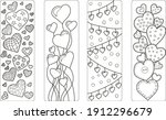 set of four bookmarks with...   Shutterstock .eps vector #1912296679