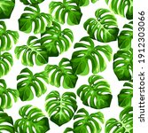 vector tropical seamless... | Shutterstock .eps vector #1912303066