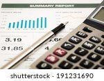 business graph analysis report. ... | Shutterstock . vector #191231690