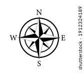 compass icon. nautical compass... | Shutterstock .eps vector #1912324189