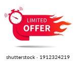 limited offer. banner of sale... | Shutterstock .eps vector #1912324219
