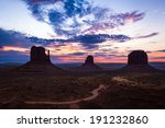famous view of monument valley... | Shutterstock . vector #191232860
