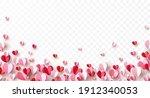 valentine's paper confetti...   Shutterstock .eps vector #1912340053