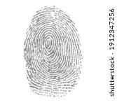 black binary code finger print...   Shutterstock .eps vector #1912347256