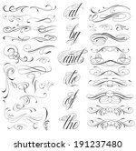 handmade tattoo lettering and... | Shutterstock .eps vector #191237480