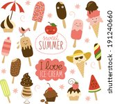 collection of ice cream  | Shutterstock .eps vector #191240660