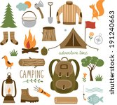set of camping equipment icon... | Shutterstock .eps vector #191240663
