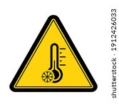 caution cold temperature sign... | Shutterstock .eps vector #1912426033