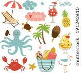 summer images set | Shutterstock .eps vector #191242610