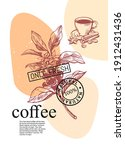 coffee branch with coffee... | Shutterstock .eps vector #1912431436