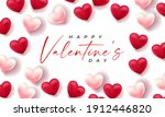 valentines day 3d hearts. cute...   Shutterstock .eps vector #1912446820