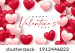 valentines day 3d hearts. cute...   Shutterstock .eps vector #1912446823