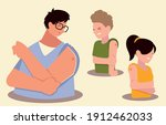people with arm pain after... | Shutterstock .eps vector #1912462033