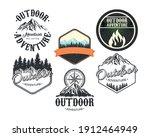bundle of six outdoor adventure ... | Shutterstock .eps vector #1912464949