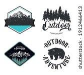bundle of four outdoor... | Shutterstock .eps vector #1912466413
