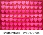 red and pink hearts background. ... | Shutterstock . vector #1912470736