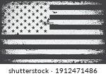 american flag.black and white...   Shutterstock .eps vector #1912471486