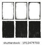 set of grunge frame backgrounds. | Shutterstock .eps vector #1912479703